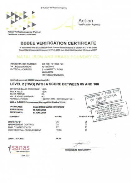 B-BBEE Certification