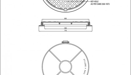 Circular Manhole Cover and Frame (Type 4)